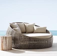 st martins daybed per textured linen weave sand sunbrella