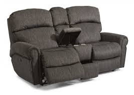 Microfiber Reclining Loveseat With Console Reclining Chairs U0026 Sofas Reclining Furniture From Flexsteel