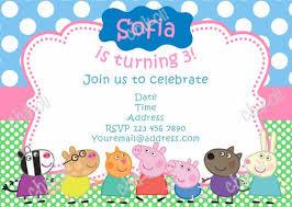 peppa pig birthday invitations invitations