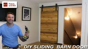 How To Build A Barn Door Frame How To Make A Sliding Barn Door Youtube