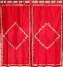 maroon curtain panels zari border 2 gold embroidery trendy