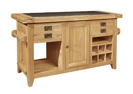 Solid Oak Furniture Panama Solid Rustic Oak Furniture Large Kitchen Island Unit
