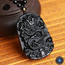 long drop pendant necklace images Natural black obsidian dragon drop pendant necklace project yourself png