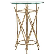 Brass Accent Table Glass Top Accent Tables Side Tables