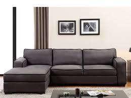 canapé d angle en microfibre gris ou taupe halifax