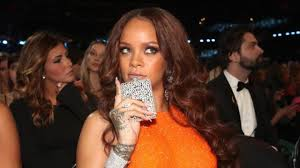 his and hers flasks rihanna casually drinks from bedazzled flask like a at 2017