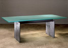 Modern Meeting Table Frosted Glass Top Meeting Table Modern Steel And Glass Meeting