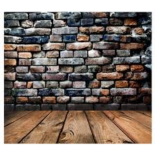 Vinyl Photography Backdrops Retro Vinyl Photography Backdrop Brick Wall Wood Floor Background