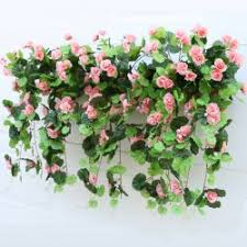 artificial flowers for home decoration artificial flowers pink 1 bouquet begonia wall mounted
