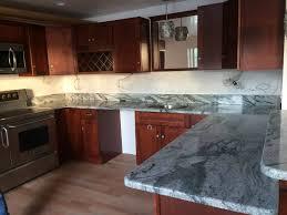 Bamboo Bar Top Bar Stools White Cabinets And Granite Countertops Glass