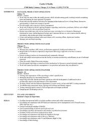 production operations resume samples velvet jobs