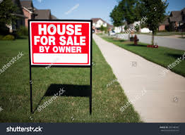 house sale by owner sign front stock photo 295148342 shutterstock