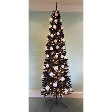 pencil christmas trees the 8ft black italian pencilimo tree