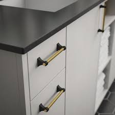 black cabinet door handles lowes brainerd casual dual finish 5 1 16 in center to center matte