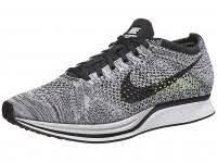Nike Racing racing shoes nike flyknit racer unisex shoes white black volt