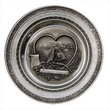 personalized pewter plate engraved anniversary gifts