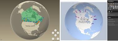 united states globe map data adventures excel power map vs power bi globe map visualization