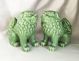 choo foo dogs vintage guardian lions by coololdstuffforsale handsome