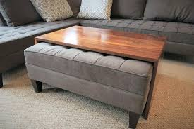 ottoman with storage and tray sliding coffee table amazing coffee table tray ottoman with sliding
