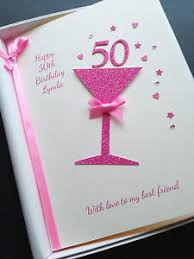 50th birthday card for personalised handmade gift boxed