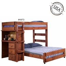 Solid Pine Table Twin Full Loft Bed W Desk Solid Pine
