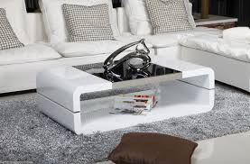 Black Gloss Glass Coffee Table Kosy Koala Modern High Gloss White Coffee Table With Black Glass