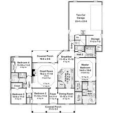 4 Bedroom 2 Bath Floor Plans by Country Style House Plans 2200 Square Foot Home 1 Story 4