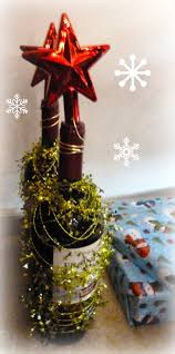 make it easy crafts christmas tree wine bottle hostess gift