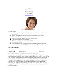 Resume Template For Child Care Worker Resume Nanny Job Experience