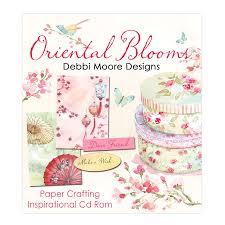 oriental blooms paper crafting cd rom debbi moore designs