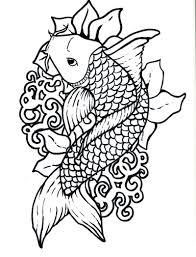 koi fish coloring 38 remodel coloring print