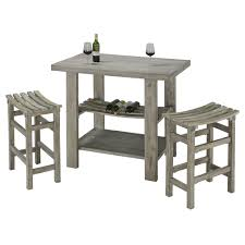 rectangle pub table sets shabby chic grey wooden rectangle pub table for rustic kitchen and