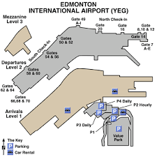 edmonton international airport airport maps maps and directions