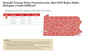 Primary Map 2016 Pennsylvania Republican Primary Results And Voting Map