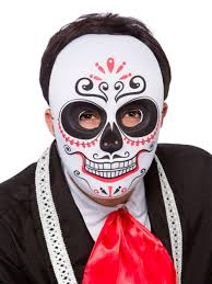 fancy mardi gras mens day of the dead sugar skull mask mardi gras fancy dress