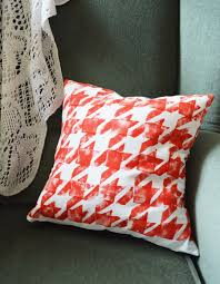 houndstooth home decor diy houndstooth patterned cushion cover