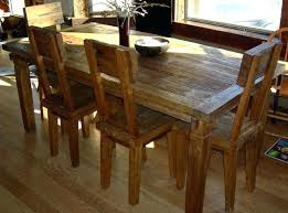 distressed wood table and chairs reclaimed wood furniture dining table mitventuresco with regard to