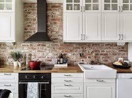 kitchen with brick backsplash brick backsplash kitchen home designs idea
