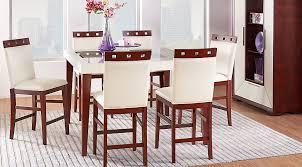 Ivory Dining Room Chairs Sofia Vergara Dining Room Set Savona Ivory 5 Pc Counter Height 4