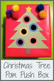 christmas tree pom pom push box christmas pinterest
