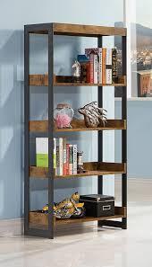 Metal Bookcases Amazon Com Coaster Furniture 800657 Estrella Antique Nutmeg