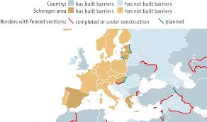 Interactive Europe Map by Planned And Existing Border Fences Walls In Europe Interactive