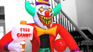there u0027s a giant inflatable killer clown halloween decoration in