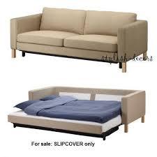 Sofas For Sale Ikea Ikea Karlstad Sofa Bed Slipcover 202 030 68 Lindo Beige Ebay