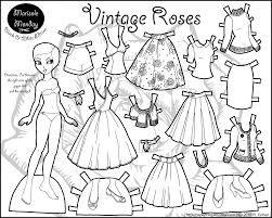 marisole monday vintage roses printable paper dolls and free