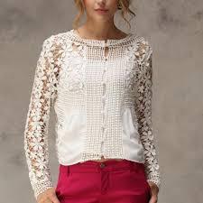 vintage blouse buy s white vintage blouse allover floral lace crochet