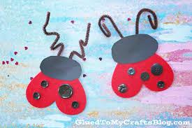 heart shaped valentine u0027s day ladybug kid craft glued to my crafts