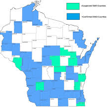 Wisconsin Counties Map by News Spotted Wing Drosophila