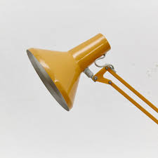 industrial desk lamp danish industrial yellow desk lamp from hcf 1960s for sale at pamono