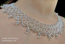 necklace patterns images Free pattern for necklace silver net beads magic jpg
